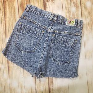 Vintage 90s Joey Fresco Acid Wash Jean Shorts Y2K